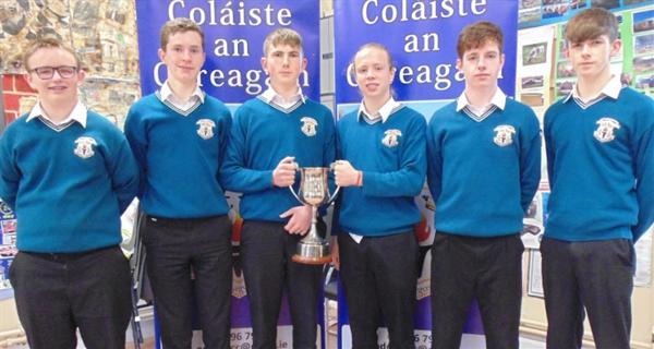 Coláiste an Chreagáin Celebrate Cup Champions, Division 2B