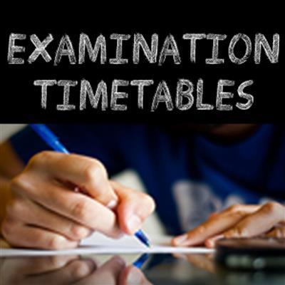 Pre Exam Timetables