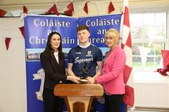 Victorious Galway Minor Hurling Players Visit Coláiste an Chreagáin