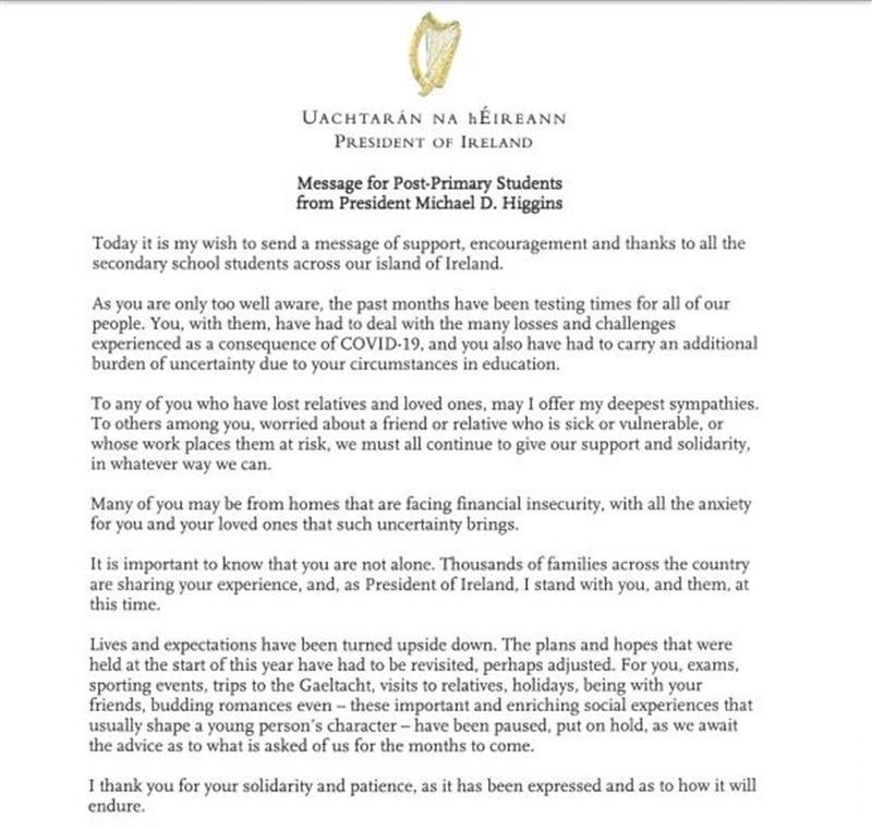 President post primary message.JPG