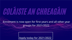 Enrolment for 2021/2022 is now open for first year and all year groups
