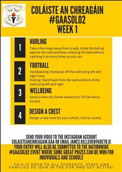 Coláiste an Chreagáin #GAASolo2 Week 1